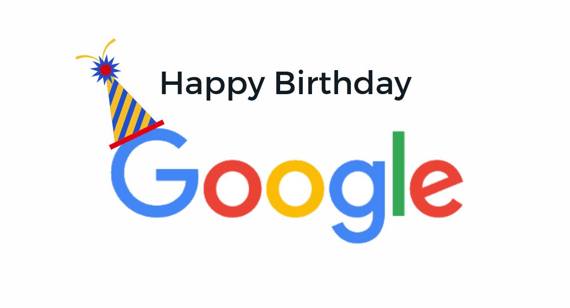 गुगल च्या वाढदिवस निमित्ताने